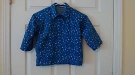 H & M Childrens Chiboogi Girls Hooded Rain Jacket Size 2A Blue tiny flowers - $4.99