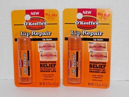 2 Packs O'Keeffe's Lip Repair Balm Unflavored 0.15 Oz Each New (Q) - $12.86
