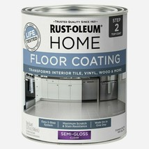 Rust-Oleum Home FLOOR COATING 1 qt. Tile Vinyl Wood SEMI-GLOSS CLEAR 358... - $26.99