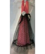 Vintage Barbie Best buy Fashion  Black Lace Over Pink Halter Dress - $95.00
