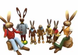Large Vintage Lot Erzgebirge Kuhnert Wood Rabbit Bunny Easter Made in Germany image 7
