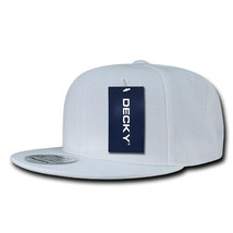 Snapback Cap - White, Acrylic Hat (Decky 350-WHT, New with Tags) - £5.40 GBP