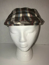 Gymboree Brown Plaid Cotton Newboy Cotton Hat Youth 5-7 Cabbie - $12.47