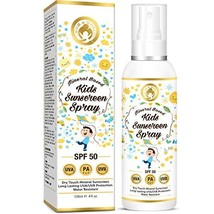 Mom & World Mineral Based Kids Sunscreen Spray SPF 50, Water Resistant, UVA/UVB