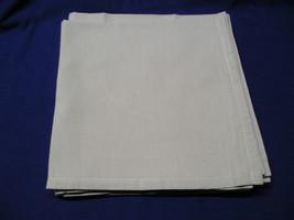 6 Greenish Grey Colored Cloth Napkins  17 x 17 Inches Square. - $12.00