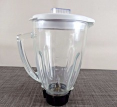 Oster Pitcher Assembly for Blenders, Glass Jar + White Lid + Black Base - $22.72