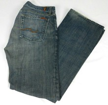 7 For All Mankind Mens Bootcut Blue Denim Jeans 31 W 33 L 33 - $22.99