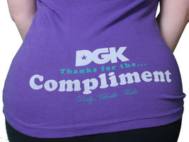DGK Dirty Ghetto Kids Womens Girls I Love Biters Black or Purple T-Shirt NWT image 5