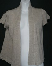 Eileen Fisher Hemp Cardigan Sweater XS Extra Small Lightweight Taupe SS - $39.59