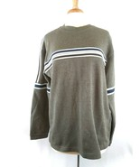 XG Extreme Quality Mens M Green Pullover Ribbed Sweater Long Sleeve - $14.86