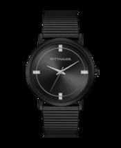 Wittnauer Men's Black Tie Watch Genuine  Diamond WN3106 - $287.10