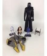 Star Wars Toy Figures Toys Lot 6 Kylo Ren Qui-gon Jinn Stormtrooper Star... - $24.90