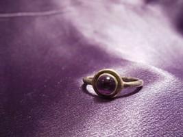 Vintage Purple Amethyst Gemstone Sterling Silver Ring Size 6 3/4 - $34.65