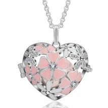 Pink Cherry Blossom Cubic Zircon Rhinestone Harmony Ball Pendant - $54.41