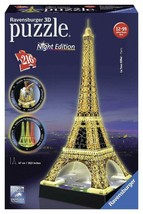 Ravensburger 125791 Eiffelturm bei Nacht Puzzle 3D-Puzzle Bauwerk Night Edition, - $36.08