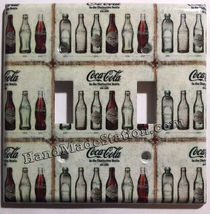 Coke Coca Cola Old bottles Light Switch Power Outlet Wall Cover Plate Home decor image 5