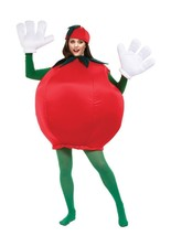 Tomato Adult Costume Smock Food Vegetable Red Halloween Party Unique PA9507 - $59.99