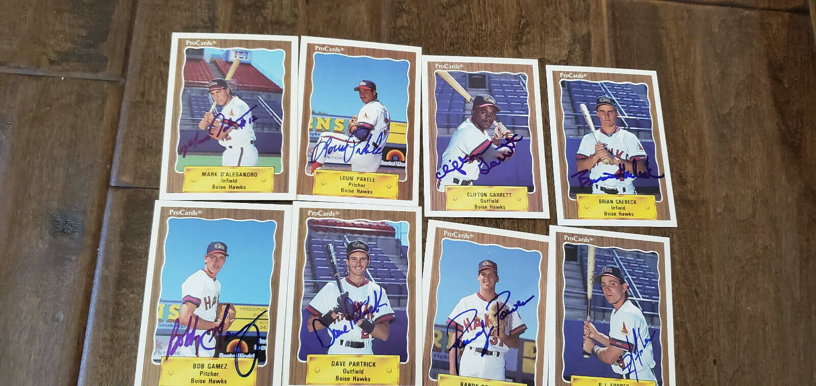 Primary image for 1990 Procards Boise Hawks Angels signed auto card lot of 8 P.J Forbes