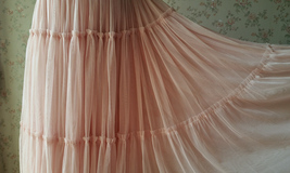 BLUSH Tiered Midi Skirt Blush High Waisted Tiered Tulle Skirt Plus Size image 11