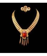 Antique Victorian necklace / vintage brooch / bookchain choker / Fringe  - $425.00