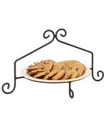 PIE PLATE STAND Wrought Iron Single Tier Rack in Satin Black USA AMISH H... - $29.39