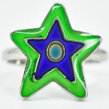 Kid's Fashion Silver Tone Star Color Changing Fashion Adjustable Mood Ring image 4
