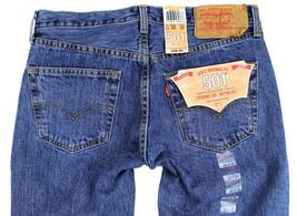 Levi's 501 Men's Original Fit Straight Leg Jeans Button Fly 501-0193 image 1