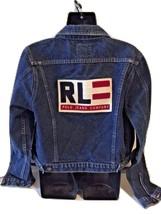Ralph Lauren Polo Jeans Co. Denim Jeans Flag Patch Trucker Jacket Sz Large L EUC - $199.99