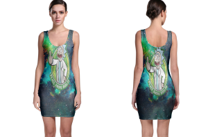 Rick and morty peace among worlds bodycon dress