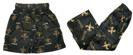 NFL New Orleans Saints Boy's 4-7 Pajama Pants & Shorts Sleepwear Football NEW