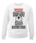 Schnauzer - official walker - NEW WHITE COTTON SWEATSHIRT - $30.65