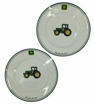 John Deere Gibson 11 Inch  Dinner Plates Set of 2 Microwave Dishwasher Safe - $12.59