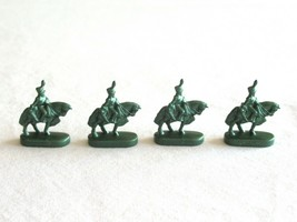 4x Risk 40th Anniversary Edition Board Game Metal Cavalry Soldier Green Army Lot - $10.99