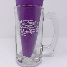 Disney Cinderella's Royal Table Clear Glass Mug Stein Souvenir Magic Kin... - $10.95