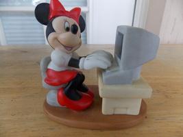 Disney Minnie Mouse Computing Figurine - $25.00