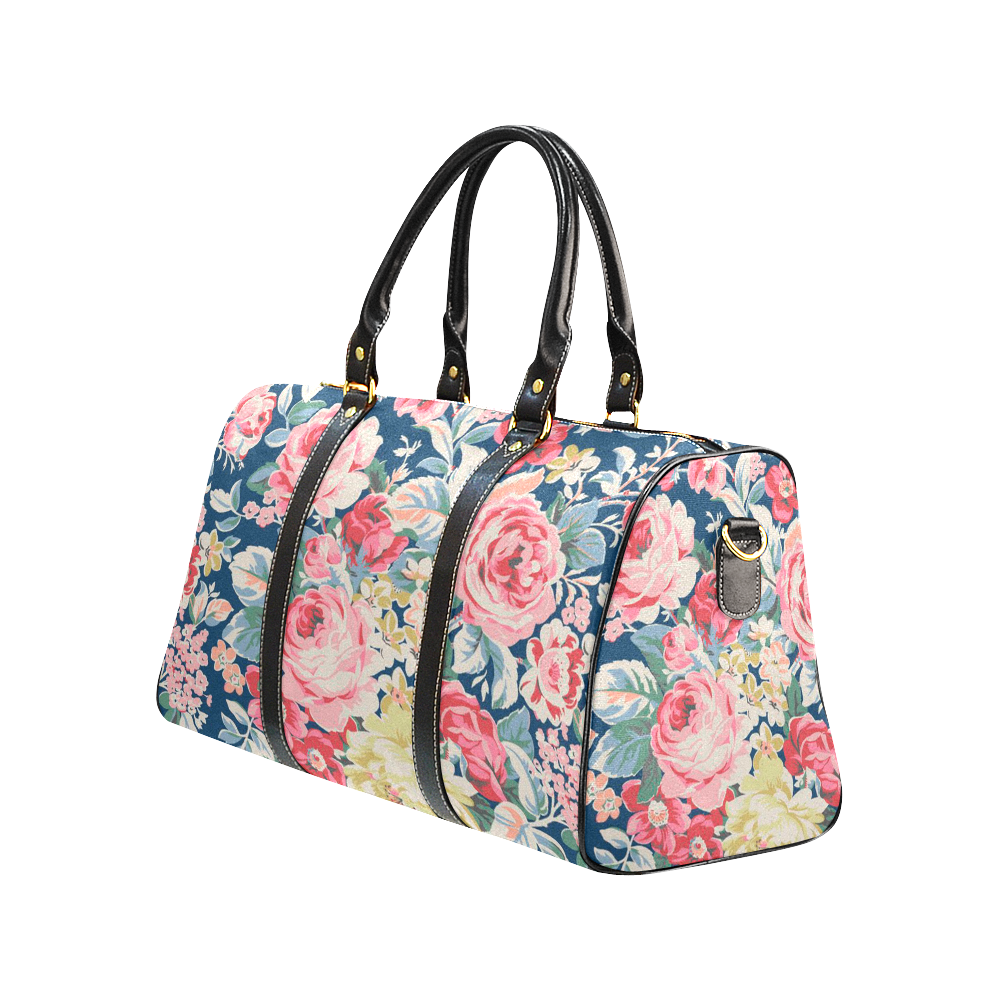Spring Summer Garden Pattern Gucci Style Large Travel Bag Custom Handmade Women