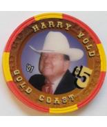 Las Vegas Rodeo Legend Harry Vold '01 Gold Coast $5 Casino Poker Chip - $19.95