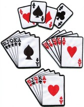 Playing cards royal flush poker ace applique iron-on patch new your choi... - $2.98