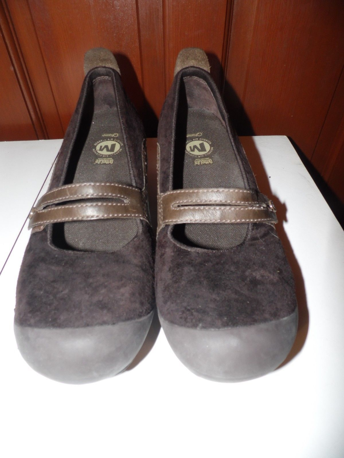 Women's Merrell Air Cushion Ortholite Brown Mary Jane Shoes Sz 9.5