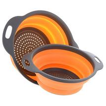 Foldable Silicone Colander Fruit Washing Basket Strainer Collapsible Dra... - $13.99