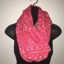 NWT Eddie Bauer Infinity Scarf Pink Oversized 100% Cotton - $22.76 CAD