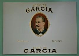 """FLOR DE GARCIA"" Inner Lid Cigar Box Label, form early 1900's or earlier - $10.00"