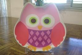"""Kids Owl Melamine Plate 8.5"""" x 9.25""""  Dishwasher Safe Used - €3,86 EUR"""