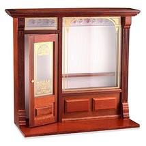 Reutter Porzellan Dollhouse Miniature Cafe Shop Display, Empty, Walnut Finish #9 - $83.12
