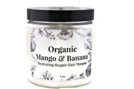 Organic Mango And Banana Hydrating Repair Hair Masque l Moisturizing l Detoxifyi - $20.00