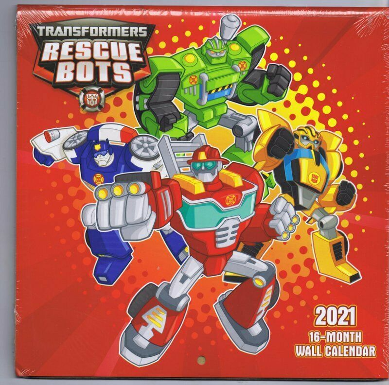Primary image for NEW SEALED 2021 Hasbro Official Transformers Rescue Bots 16 Month Wall Calendar