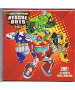 NEW SEALED 2021 Hasbro Official Transformers Rescue Bots 16 Month Wall C... - $9.49