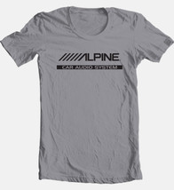 Alpine T-shirt Free Shipping car audio stereo auto speakers 100% cotton grey tee image 2