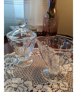 Lenox Butterfly Meadow Crystal Sugar and Creamer Set, Pre-owned, 1999 - $36.00