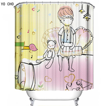 Cartoon 65 Shower Curtain Waterproof Polyester Fabric For Bathroom - $33.30+
